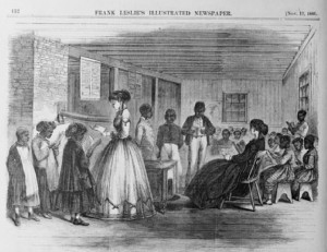 3.The Misses Cooke's school room, Freedman's Bureau, Richmond, Va., illustrated in Frank Leslie's illustrated newspaper (Jas. E. Taylor/Library of Congress). Carter G. Woodson said the mis-education of Blacks regarding their history had been used as a tool of control.